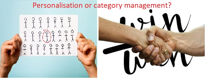 Personalisation or category management?